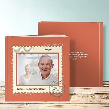 Fesselnd Fotobuch 30 Geburtstag, Geburtstagspost 60 Seiten, Hardcover 215x215 Mm  Personalisierbar, Orange