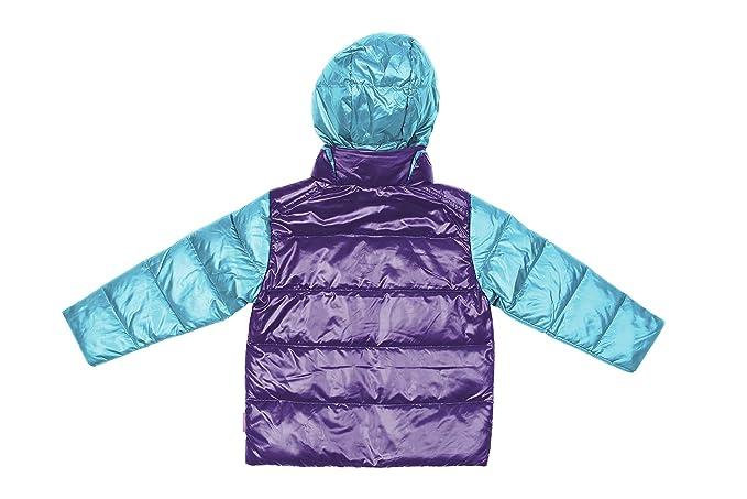 fa75bc32b1b0 Amazon.com: One Kid Car Seat Safety Road CoatDown Jacket - Aqua/Purple:  Clothing