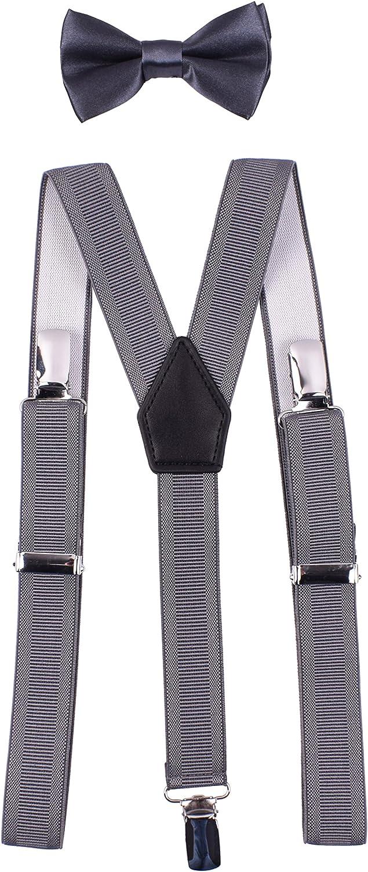 YJDS Kids Suspender Bow Tie Set Classic Y Back Adjustable
