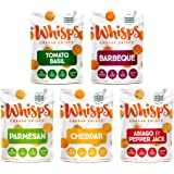 Whisps Cheese Crisps 5-Flavor Variety Pack | Tomato Basil, Barbeque, Parmesan, Cheddar, Asiago & Pepper Jack | Keto…
