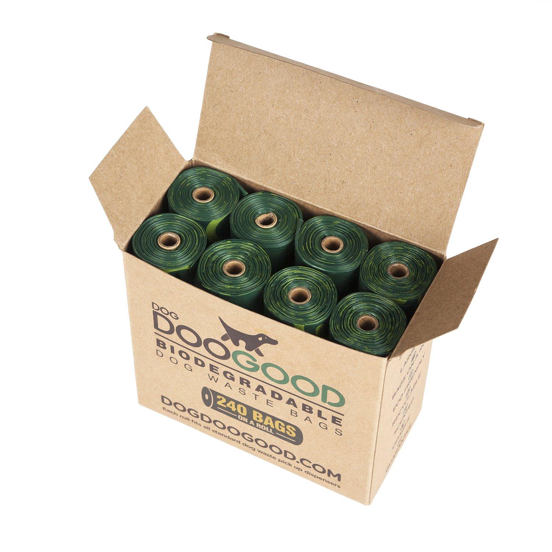 Bolsas biodegradables para heces de perro, Dog Doo Good en un rollo (x240), respetuosas con el medio ambiente, grandes, resistentes, de plástico aromático, ...
