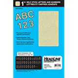 Headline Sign 31955 Stick-On Vinyl Letters and Numbers, Gold, 1-Inch