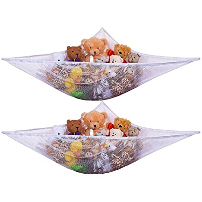 URBAN KIT Stuffed Animal Storage Hammock(2 Pack) | Stuffed Animals Storage | Toy Organization and Storage | Hammock for Stuffed Animals | Toy Hammock 2 Pack: Baby