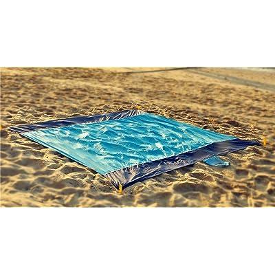 218 x 210cm Lightweight Nylon Blanket extérieure famille pique-nique Camping Plage Jouer Blanket Mat Tapi