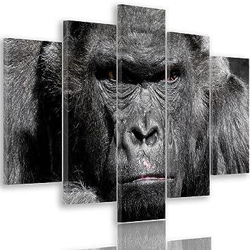 Tableau gorille noir et blanc 6 818YNaVkwDL. SY355