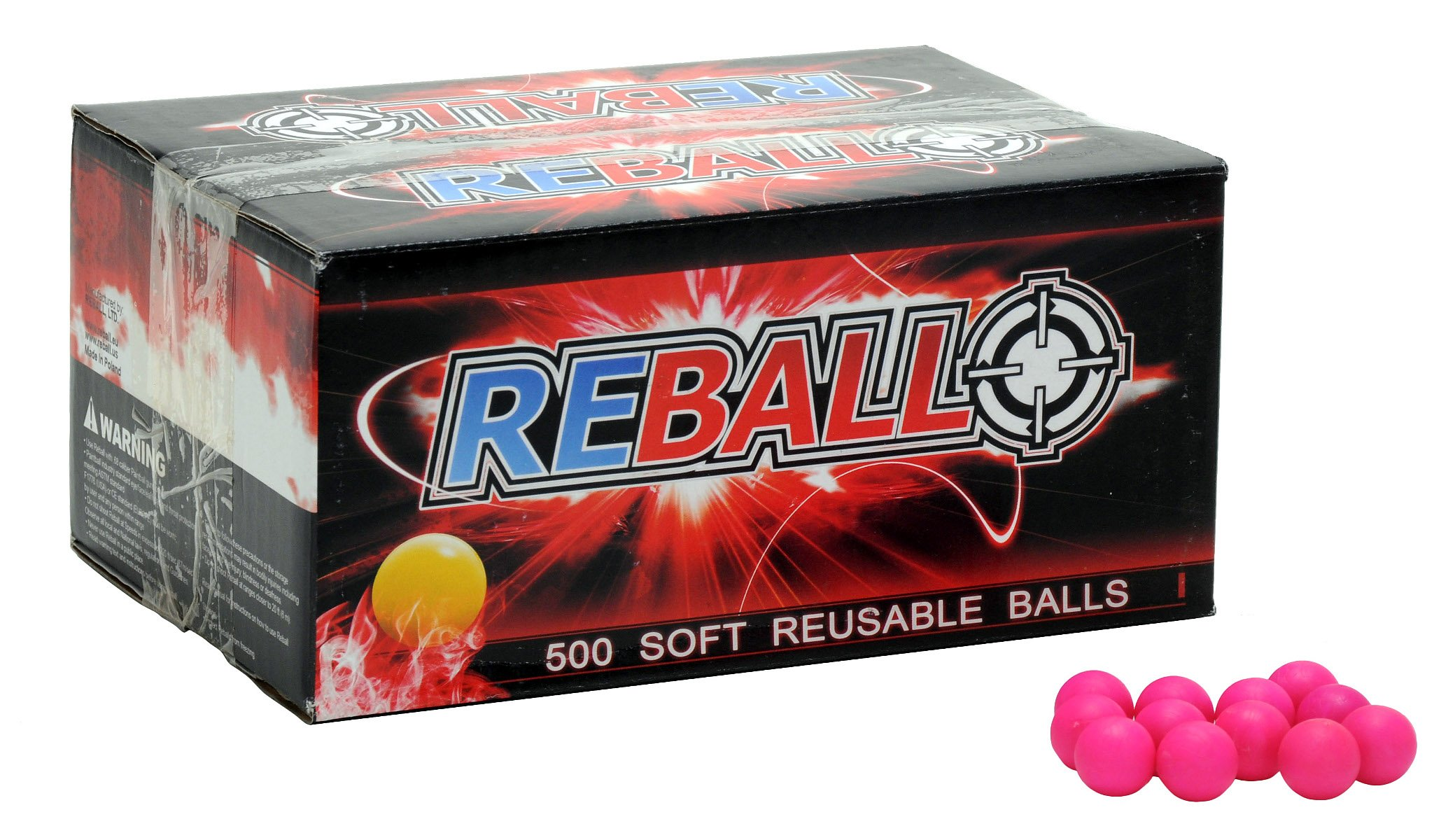 Reball Re-Usable Paintballs - 500 Pack (Pink or Green) (Pink)