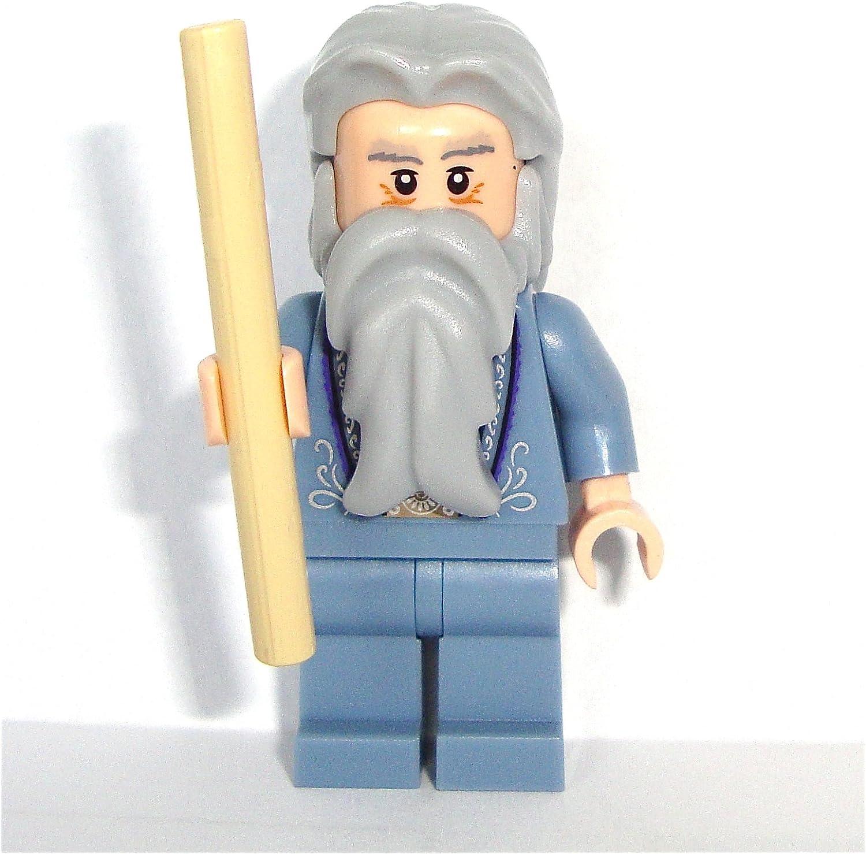 LEGO Harry Potter: Profesor Albus Dumbledore Minifigura Con Bronceado Varita Mágica
