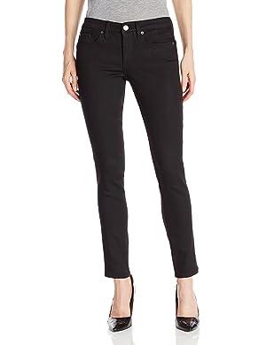 Calvin Klein Jeans Women's Curvy Skinny Jean,Black,14x32