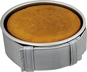 "PME LBB123 32"" x 3"" for Cake Level Baking Belt for 3-inch Deep Round and Square Pans, Standard, Silver"