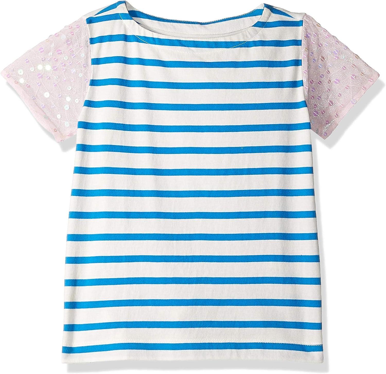 LOOK by crewcuts Girls Short Sleeve Heart Stripe T-Shirt