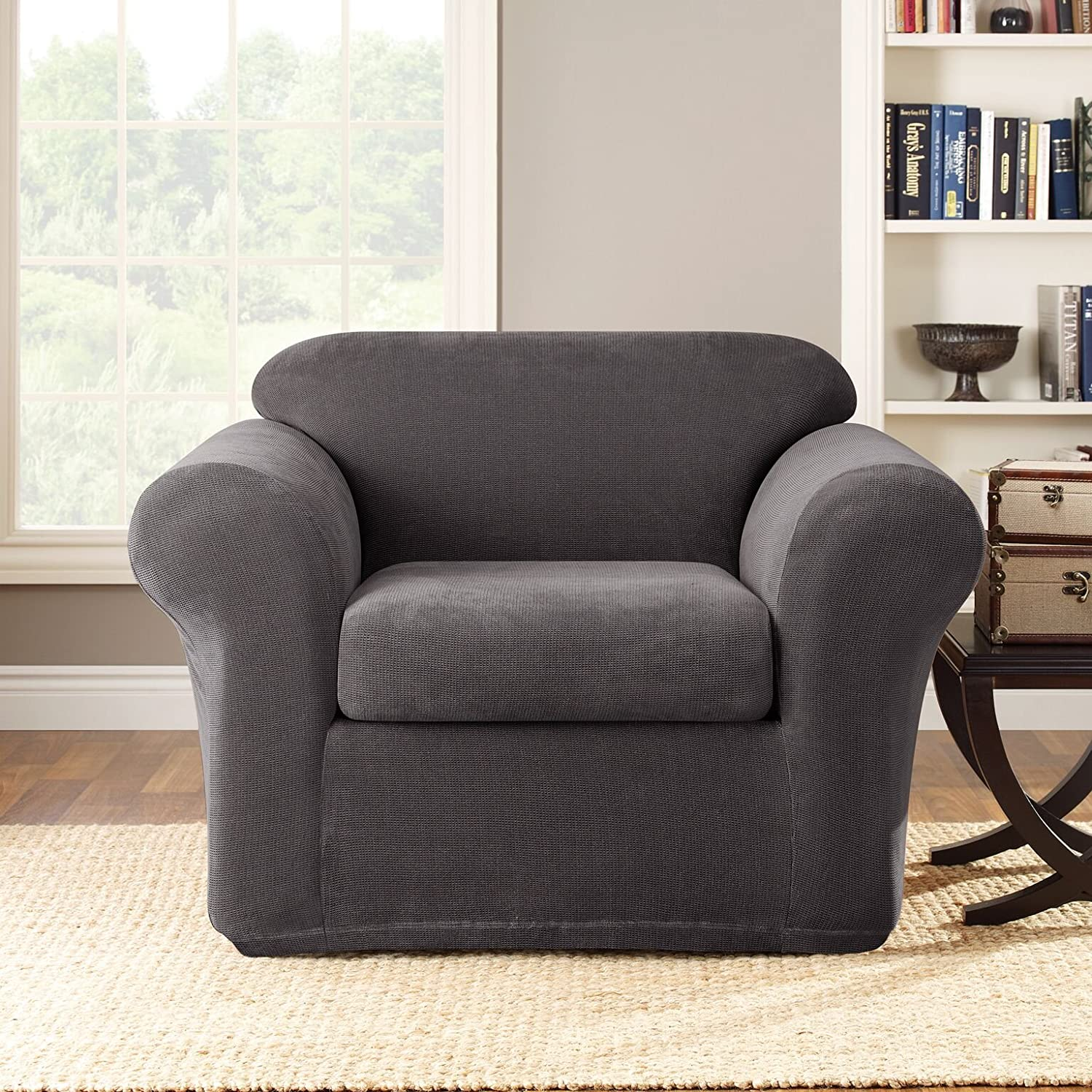 Amazon Sure Fit Stretch Metro 2 Piece Chair Slipcover