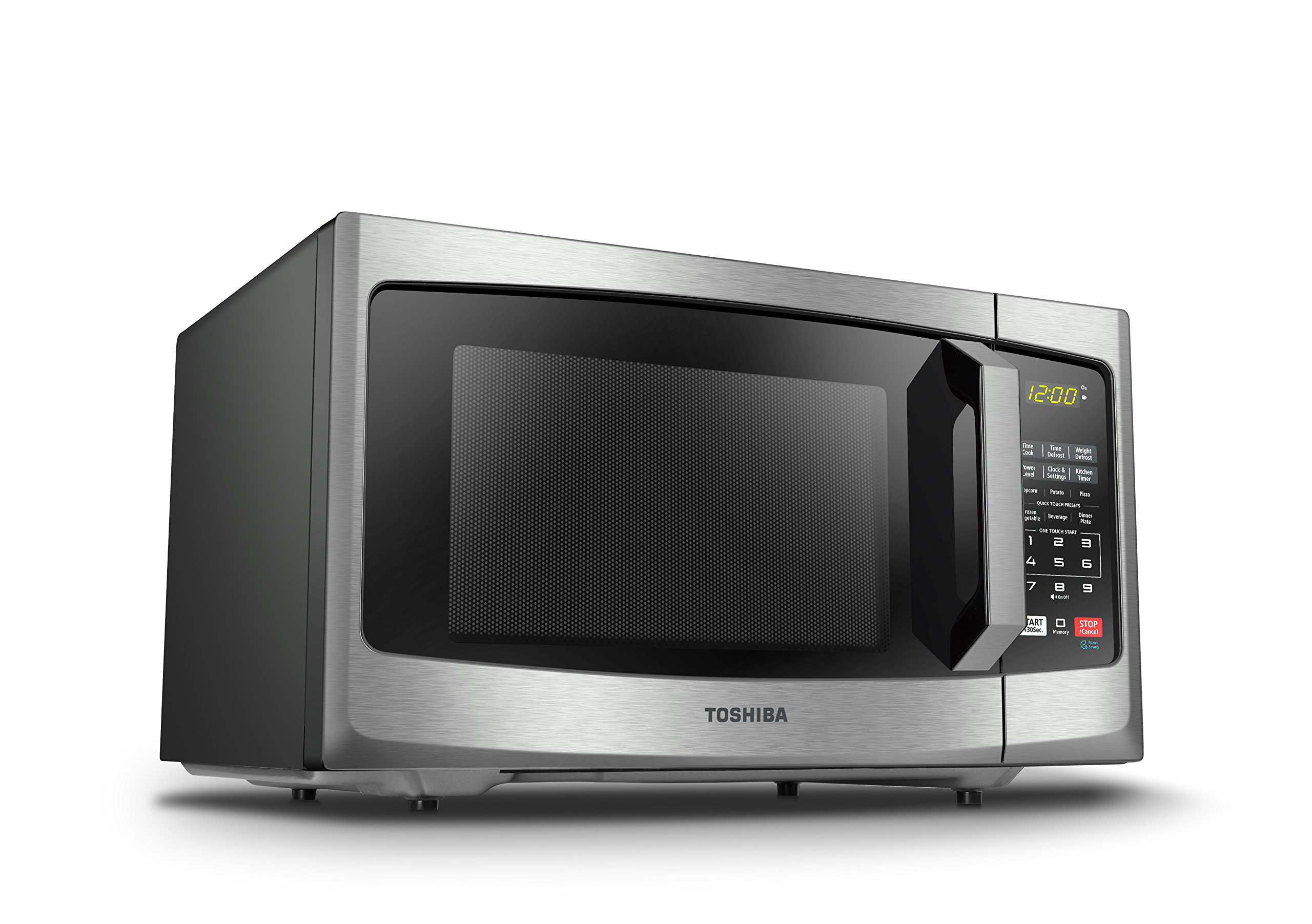 Toshiba EM925A5A-SS Microwave Oven with Sound On/Off ECO Mode and LED Lighting 0.9 cu. ft. Stainless Steel by Toshiba (Image #6)