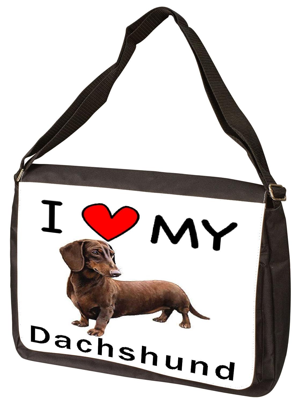I Love My Dachshundノートパソコンバッグ – Shoulder Bag – メッセンジャーバッグ B009Z2O04G