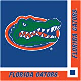 Creative Converting Collegiate 20 Count University of Florida Beverage Napkins, Orange/Blue