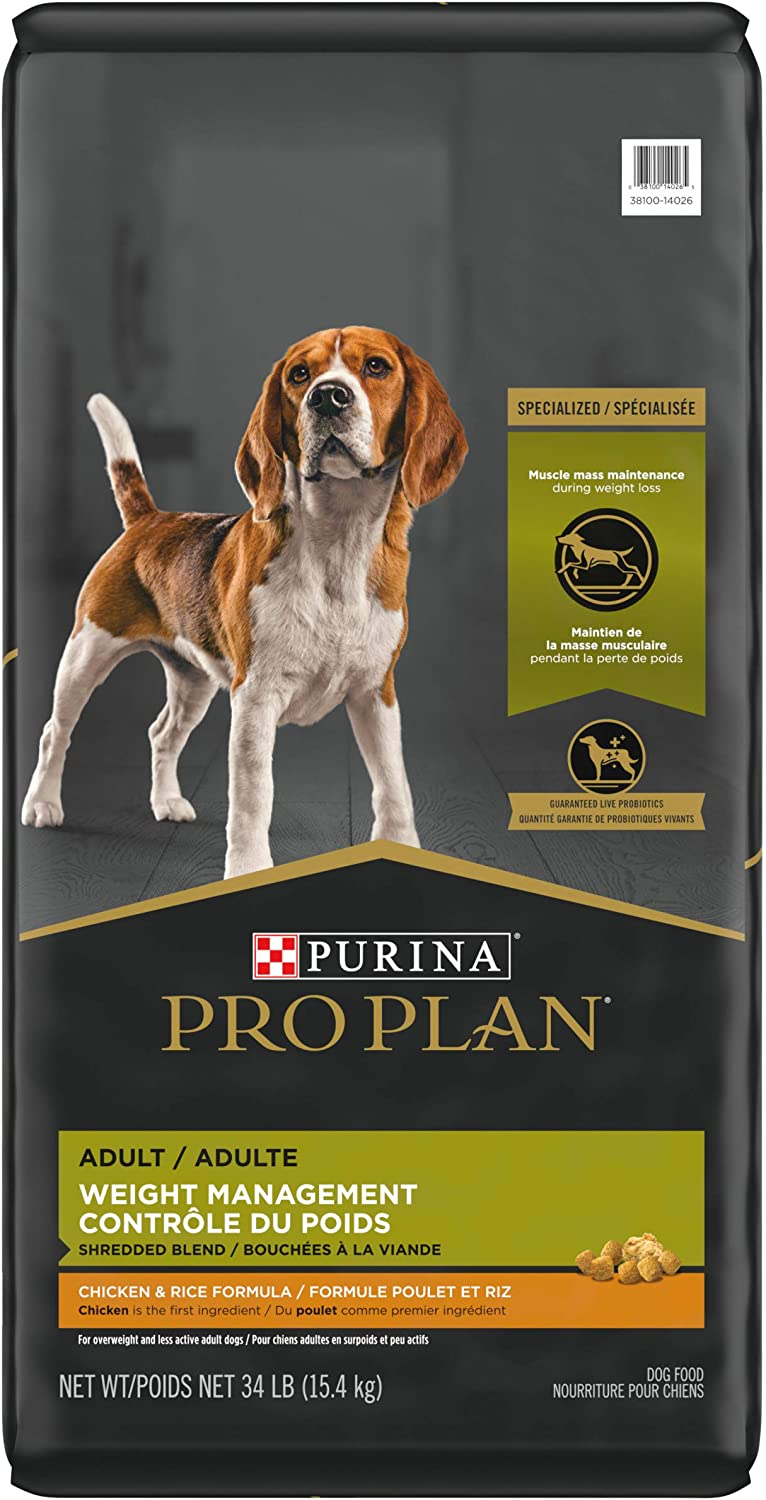 Purina Pro Plan Weight Management Adult Dry Dog Food Chicken with Shreds (Packaging May Vary)