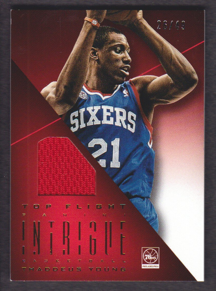 01746bec8 2012-13 Panini Intrigue Basketball Top Flight Jersey  25 Thaddeus Young  26 49 Philadelphia 76ers at Amazon s Sports Collectibles Store