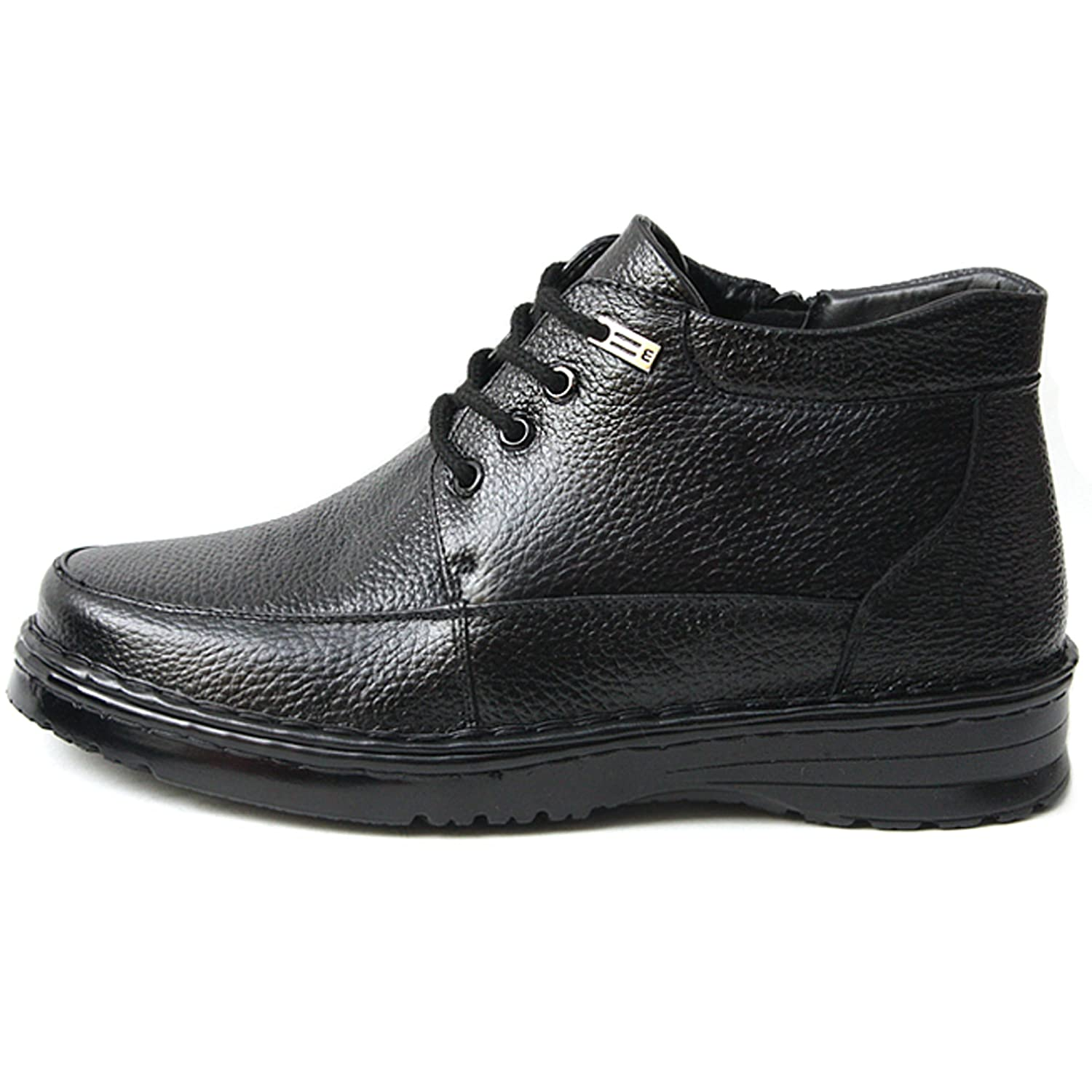 New Mens Winter Snow Warm Dress Casual Ankle Zip Lace up Leather Boots Shoes