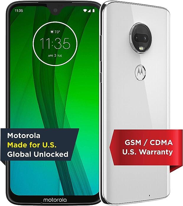 Motorola Moto G7 – Unlocked – 64 GB – Clear White (US Warranty) - Verizon, AT&T, T-Mobile, Sprint, Boost, Cricket, & Metro - PAE00010US