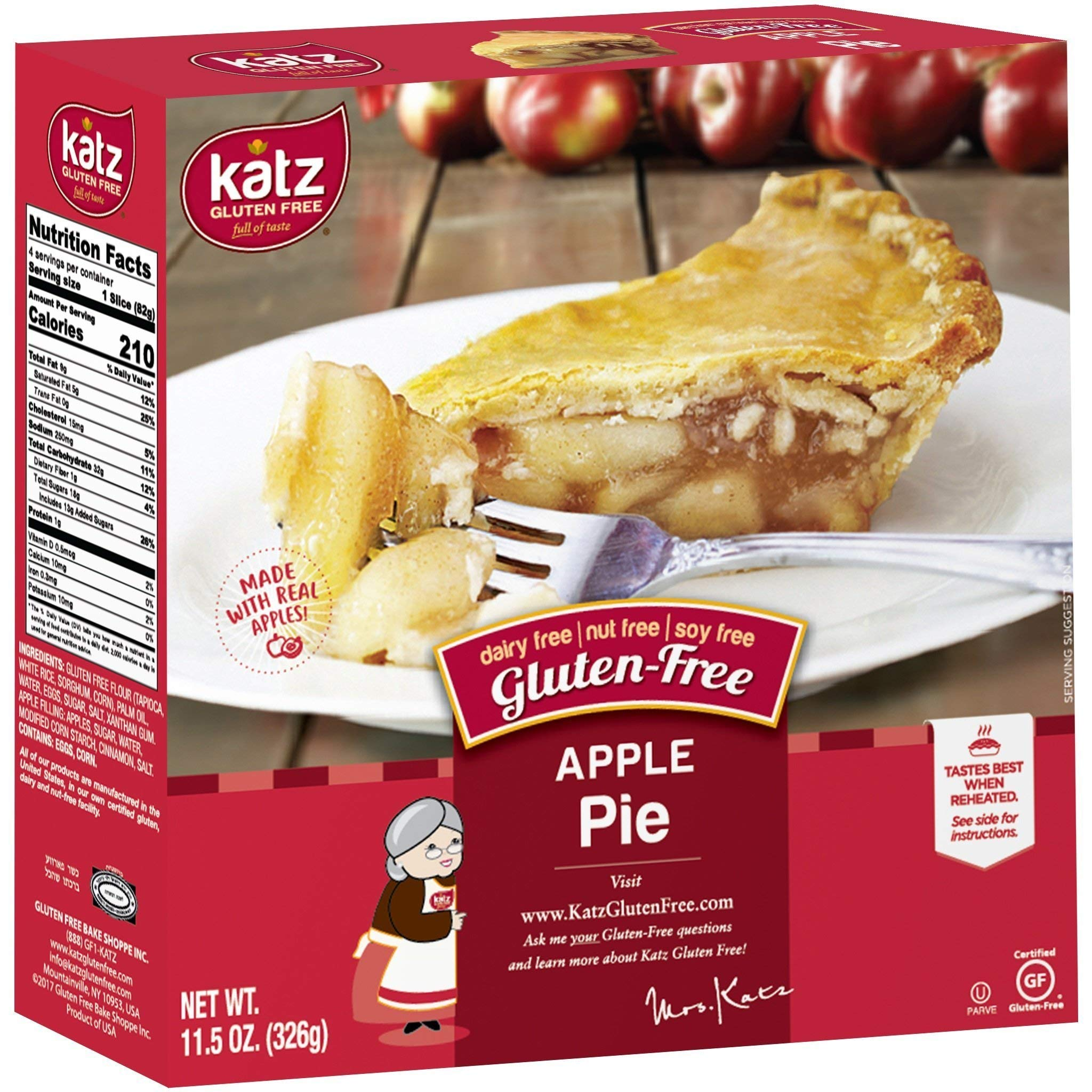 Katz Gluten Free Personal Size Apple Pie | Dairy, Nut, Soy and Gluten Free | Kosher (6 Packs of 1 Pie, 11.5 Ounce Each) by Katz Gluten Free