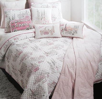 Amazon Nicole Miller Kids Reversible Twin Size Quilt Cotton