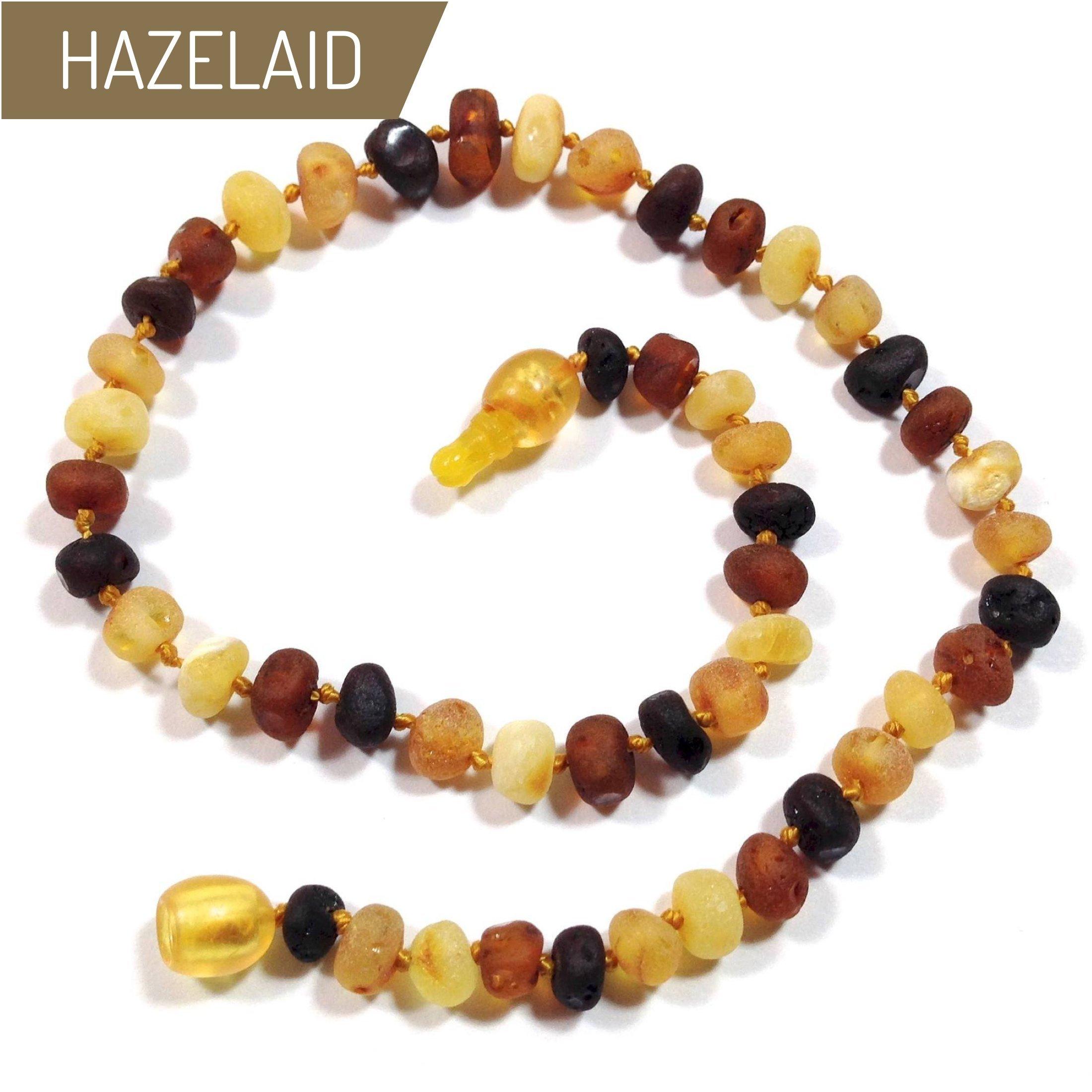 Hazelaid (TM) 12'' Pop-Clasp Baltic Amber Multicolored Semi-Polish Necklace
