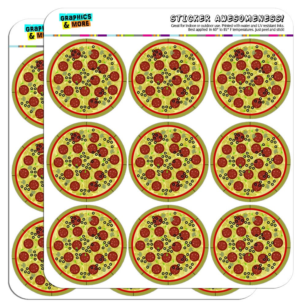 Pizza 5cm 2 inch scrapbooking crafting stickers amazon co uk kitchen home