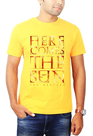 a033b2cbb667 The Banyan Tee Here Comes The Sun The Beatles Tshirt - Band Tshirts by   Amazon.co.uk  Clothing
