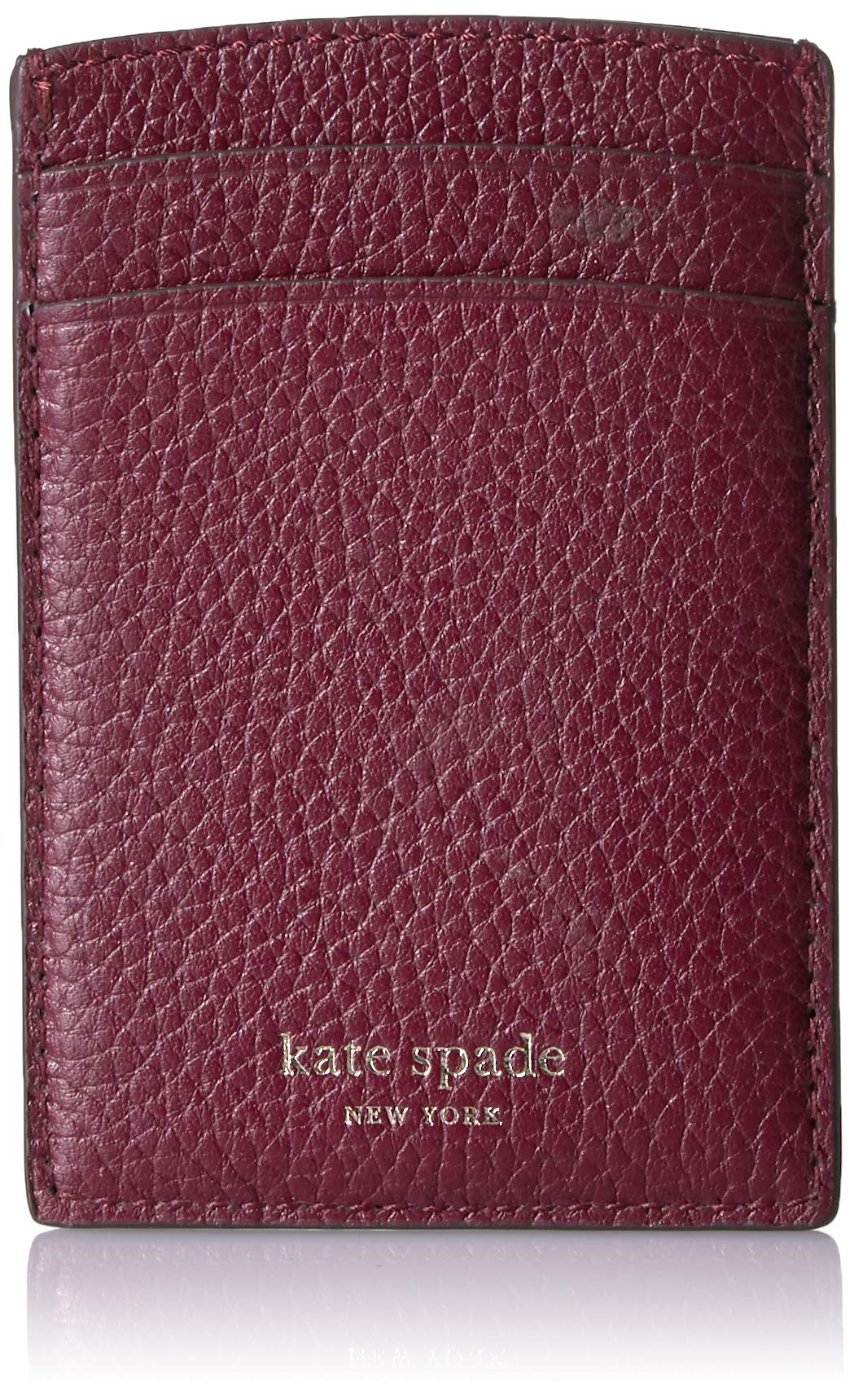 Kate Spade New York Women's Polly Card Holder Cherrywood One Size by Kate Spade New York