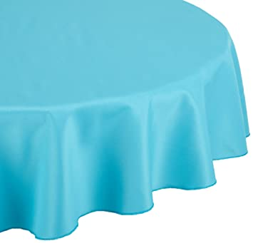 LinenTablecloth 90 Inch Round Polyester Tablecloth Turquoise
