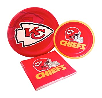 Kansas City Chiefs Football Party Supply Pack! Bundle Includes Paper Plates u0026 Napkins for 8  sc 1 st  Amazon.com & Amazon.com: Kansas City Chiefs Football Party Supply Pack! Bundle ...