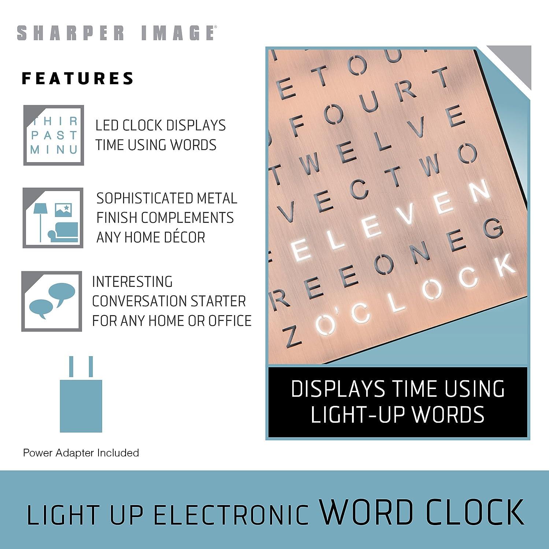 Amazon.com: Sharper Image - Reloj electrónico con luz ...