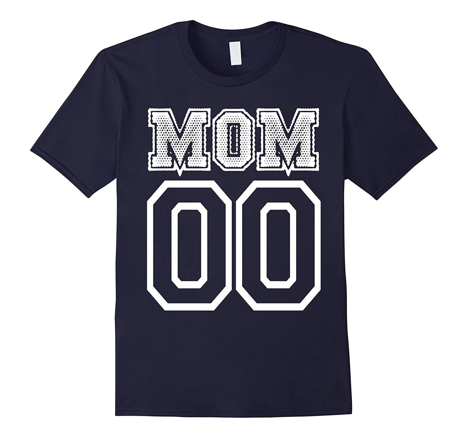 MOM 00 Collegiate Style - Funny Mothers Day - WHT T Shirt-TD