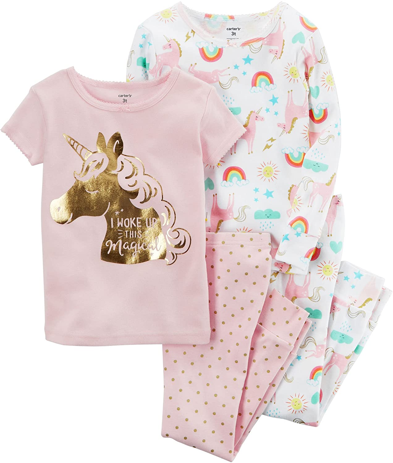Carter's Baby Girls' 4 Pc Cotton 371g077 Carters
