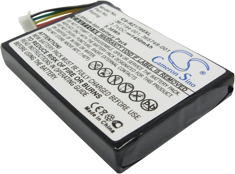 Cameron Sino 1450mAh Battery for HP iPAQ RZ1700, iPAQ RZ1710, iPAQ RZ1715, iPAQ RZ1717