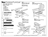 Trex Outdoor Furniture Cape Cod Folding Adirondack