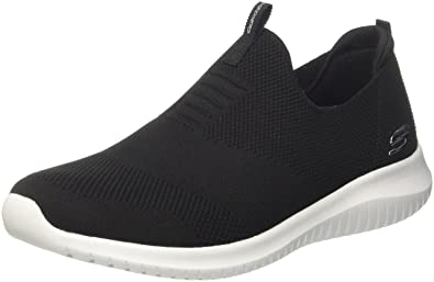 on sale 0c22f 9b190 Skechers Women s 12837 Slip on Trainers, Black (Black White), 4 UK