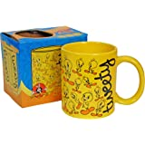 Tweety Pie Collage Mug. Funky Looney Tunes Cartoon Series Unusual Gift
