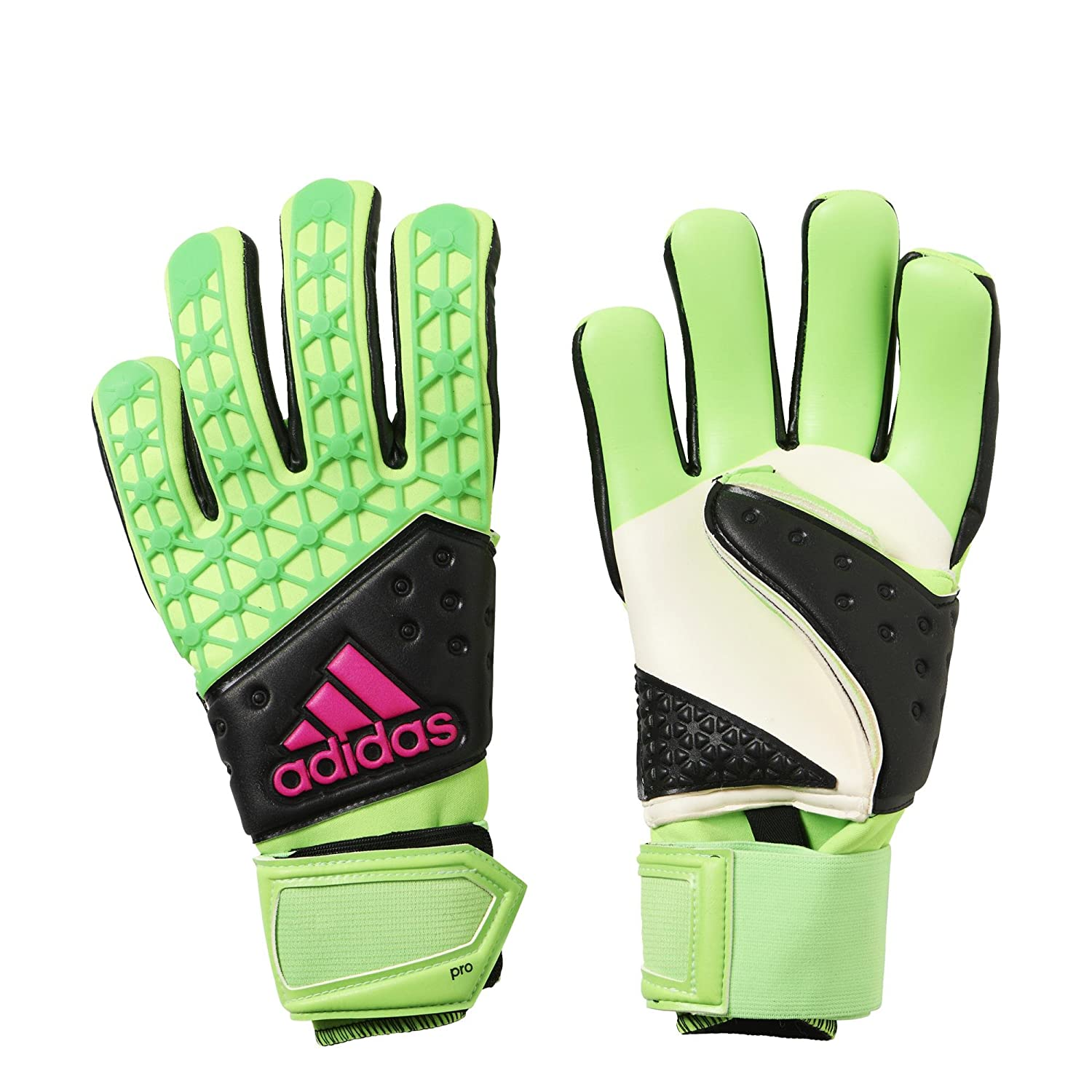 Adidas AceゾーンPro Goalie Gloves B01975A0O4Green|Black|Pink 9