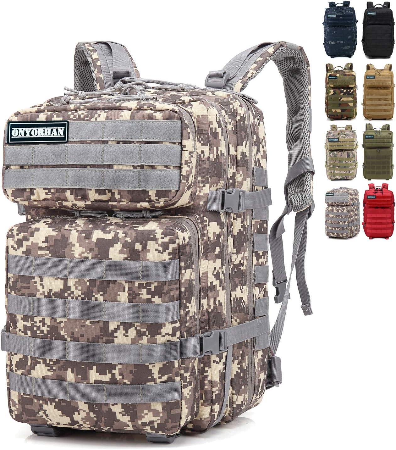 onyorhan Mochila Táctica Militar Molle Camuflaje Assault Pack Tactical Army Backpack / 40L (ACU): Amazon.es: Deportes y aire libre