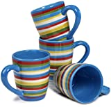 """Tabletop Lifestyles As Seen on """"Two and a Half Men"""" Sedona Mug, 16-Ounce, Blue, Set of 4"""