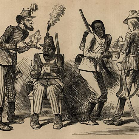 Amazon Com Abraham Lincoln Political Cartoon 1864 Jeff Davis Black