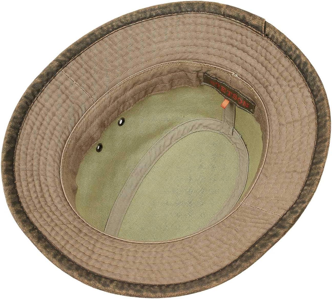 da Sole Estivo Primavera//Estate Stetson Cappello in Cotone Anti UV Uomo