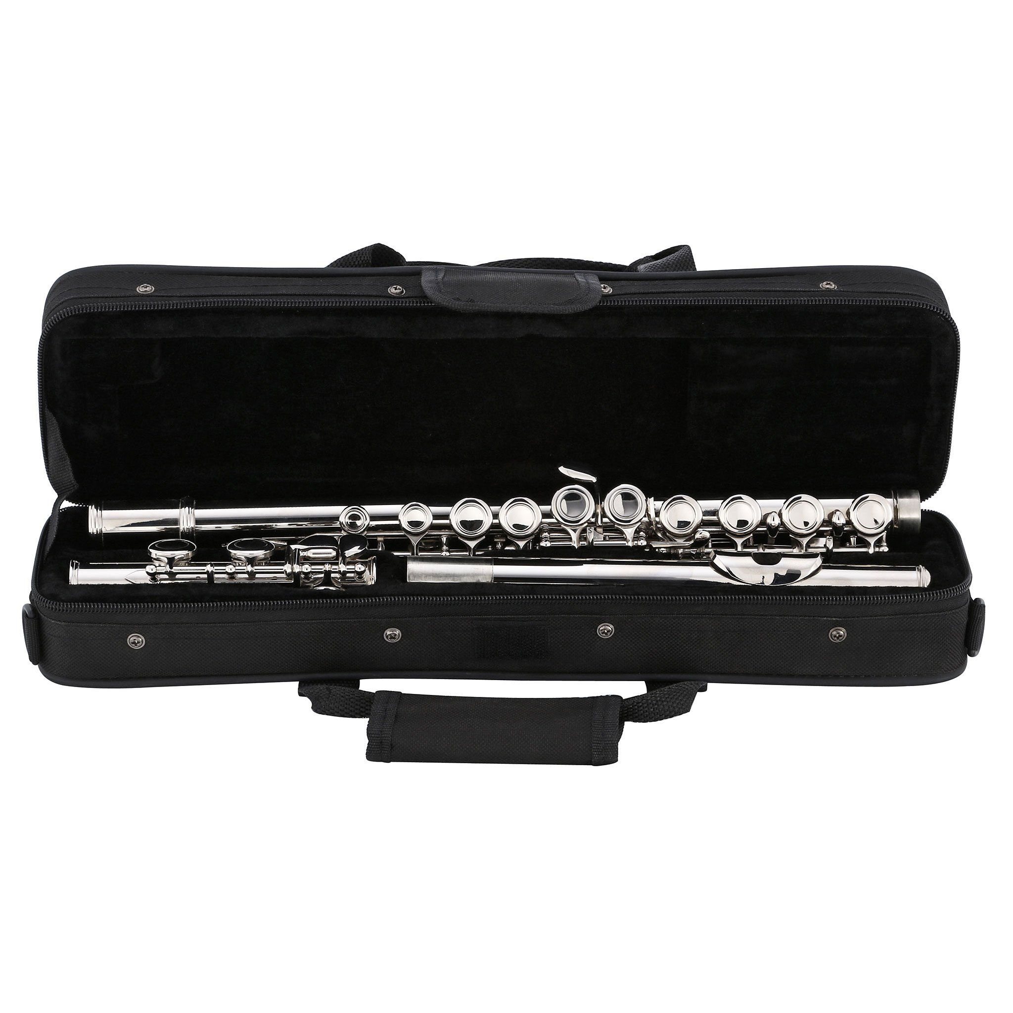 Kaizer Flute C Key 1000 Series Closed Hole Nickel Silver New 2018 Model Student Flute FLT-1500NK by Kaizer (Image #7)