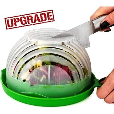 UPGRADE Salad cutter bowl - Best Salad maker. Vegetable chopper, Cutter for Lettuce or Salad chopper for Salad in 60 Seconds by O'Salata (Green)