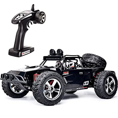 FMTStore 1:12 SCALE RC CAR Desert Buggy High Speed 30MPH+ 4x4 Fast Race Cars RTR Racing 4WD ELECTRIC POWER 2.4GHz Radio Remote control Off Road Truck (Assorted Color: Black, Gray): Toys & Games