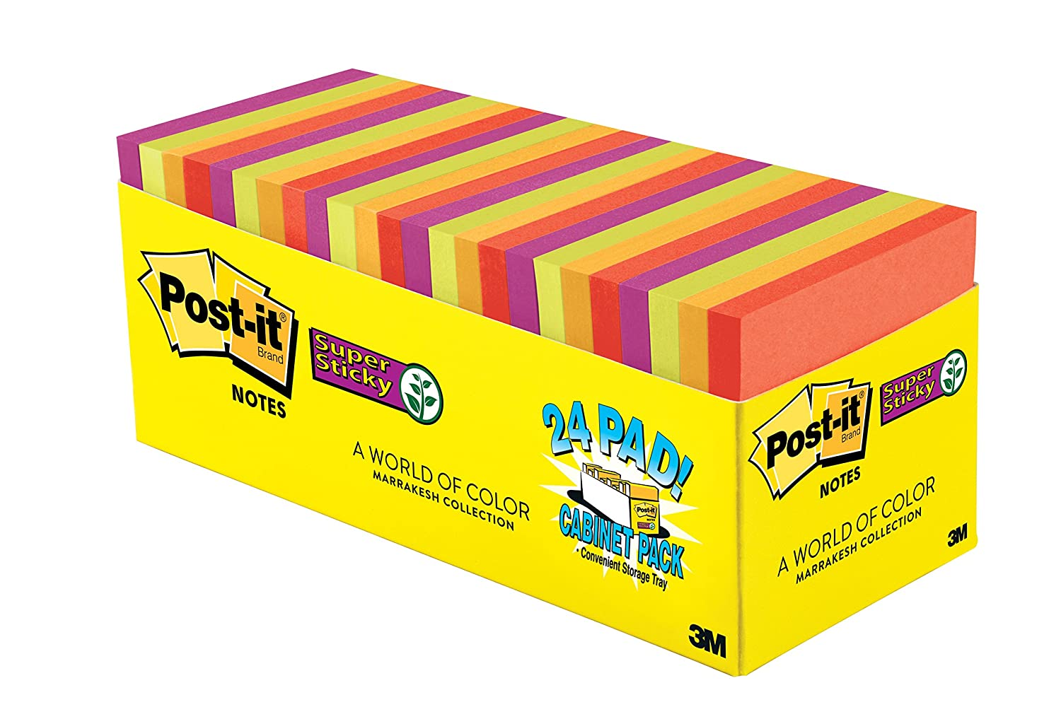 Amazon.com: Post-it Super Sticky Notes, 3 in x 3 in, Marrakesh ...