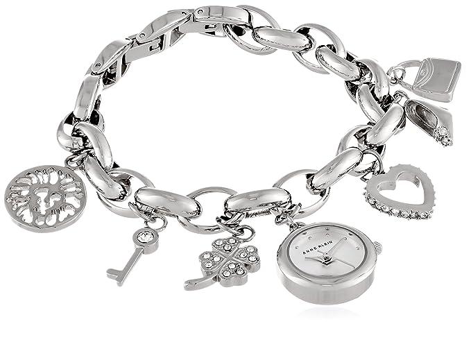 913ddd4760c1 Buy Anne Klein Women's 10-7605CHRM Swarovski Crystal Silver-Tone ...