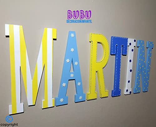 Nombres o letras con decoración infantil: Amazon.es: Handmade