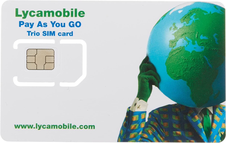 Lycamobile USA Complete SIM Kit - White