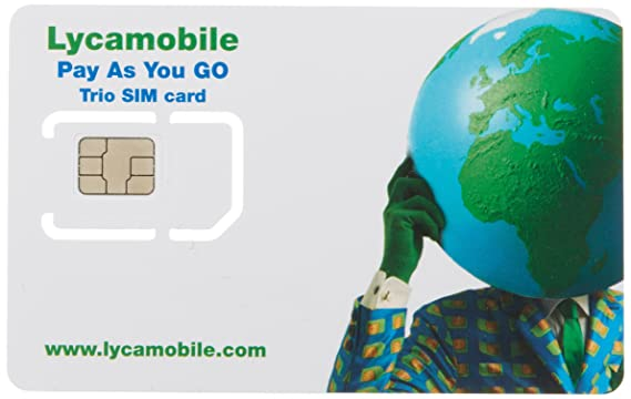 1GB data and unlimited international calling minutes valid for 30 days Lycamobile sim card